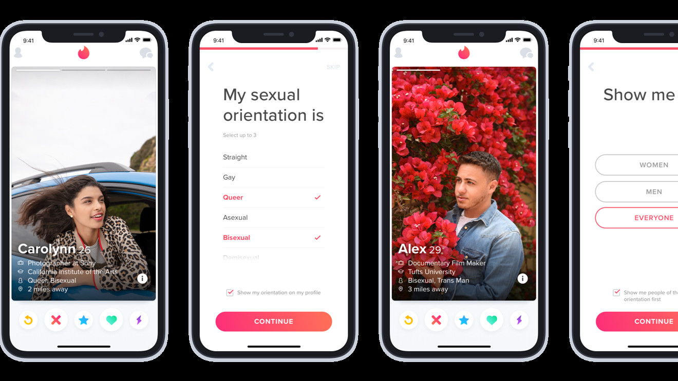 Tinder now lets swipers specify their sexual orientation