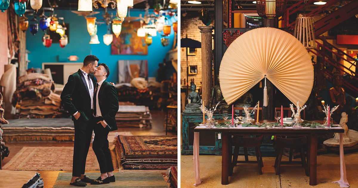 This Creative Material Culture Wedding Gave Back to the LGBT Community