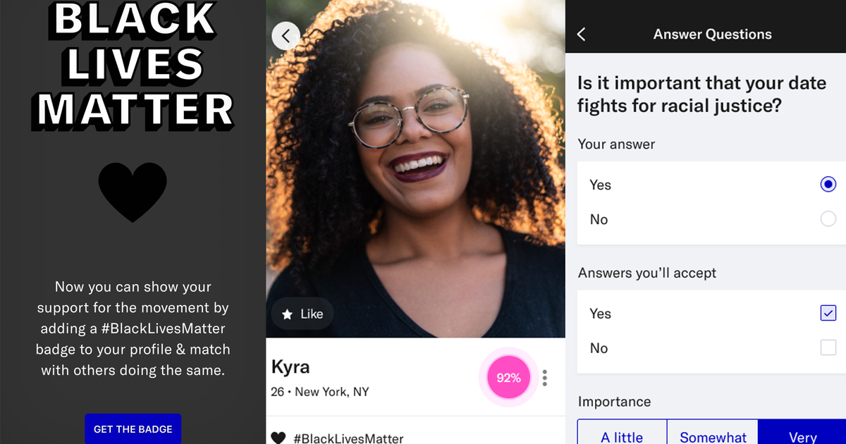 OKCupid adds Black Lives Matter badge and profile questions about racial inequality